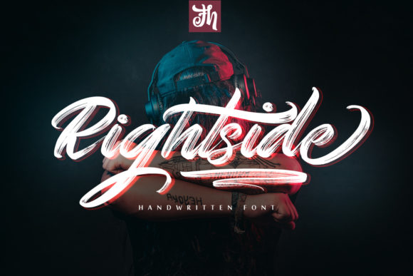 Print on Demand: Rightside Script & Handwritten Font By feydesign