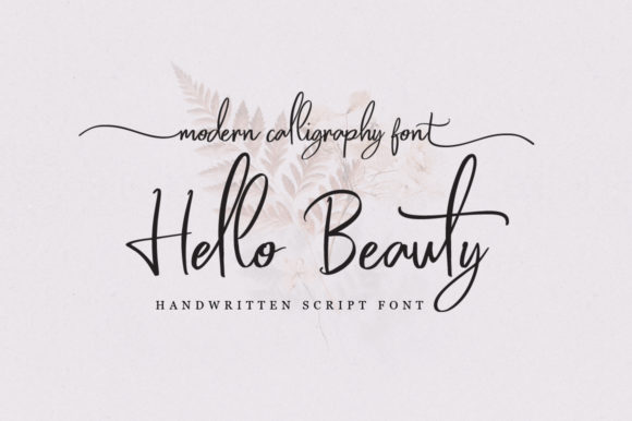 Print on Demand: Hello Beauty Script & Handwritten Font By feydesign