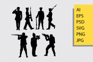 Army and Police 1 Silhouette Graphic Illustrations By Cove703