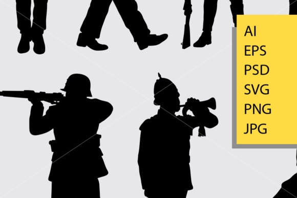 Army and Police 1 Silhouette Graphic Illustrations By Cove703 - Image 2