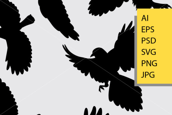 Download Free Flying Bird 1 Silhouette Graphic By Cove703 Creative Fabrica for Cricut Explore, Silhouette and other cutting machines.