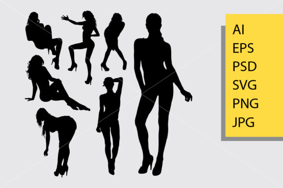 Sexy Girl 1 Silhouette Graphic Illustrations By Cove703