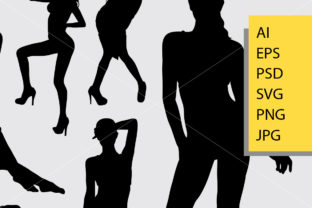 Sexy Girl 1 Silhouette Graphic Illustrations By Cove703 2