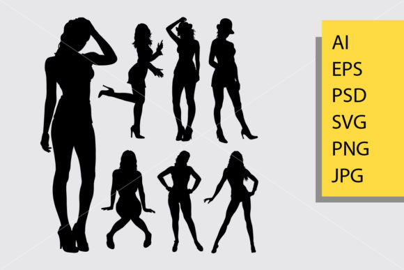 Sexy Girl 2 Silhouette Graphic Illustrations By Cove703