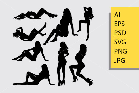 Sexy Girl 4 Silhouette Graphic Illustrations By Cove703