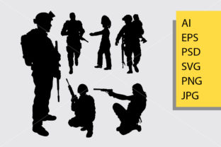 Soldier 4 Silhouette Graphic Illustrations By Cove703