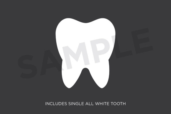 Tooth and Toothbrush Clip Art Graphic Image