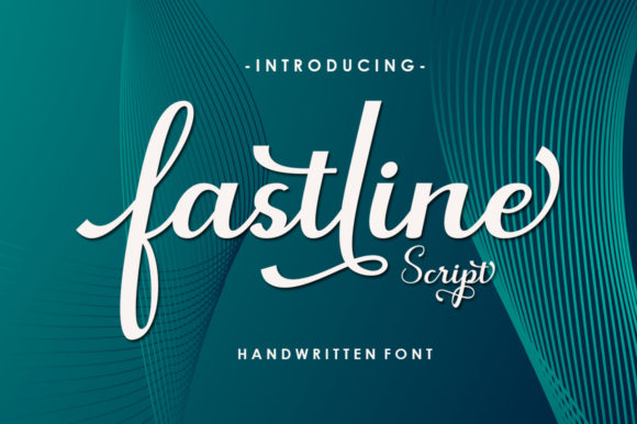 Print on Demand: Fastline Script & Handwritten Font By Neelatype Foundry