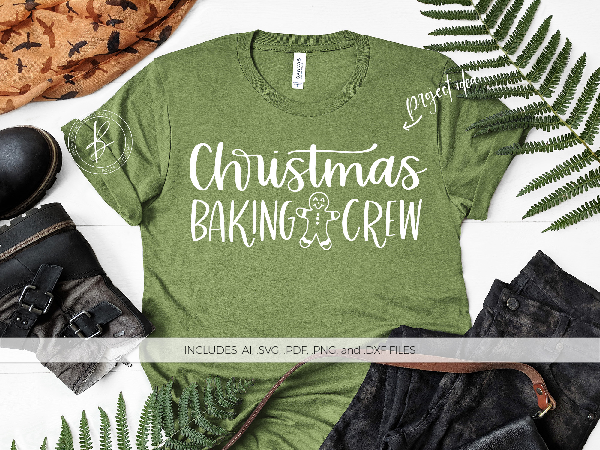 Download Free Christmas Baking Crew Graphic By Beckmccormick Creative Fabrica for Cricut Explore, Silhouette and other cutting machines.