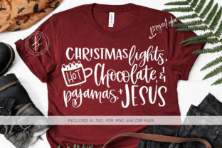 Download Free Christmas Lights Hot Chocolate Pajamas Graphic By Beckmccormick for Cricut Explore, Silhouette and other cutting machines.