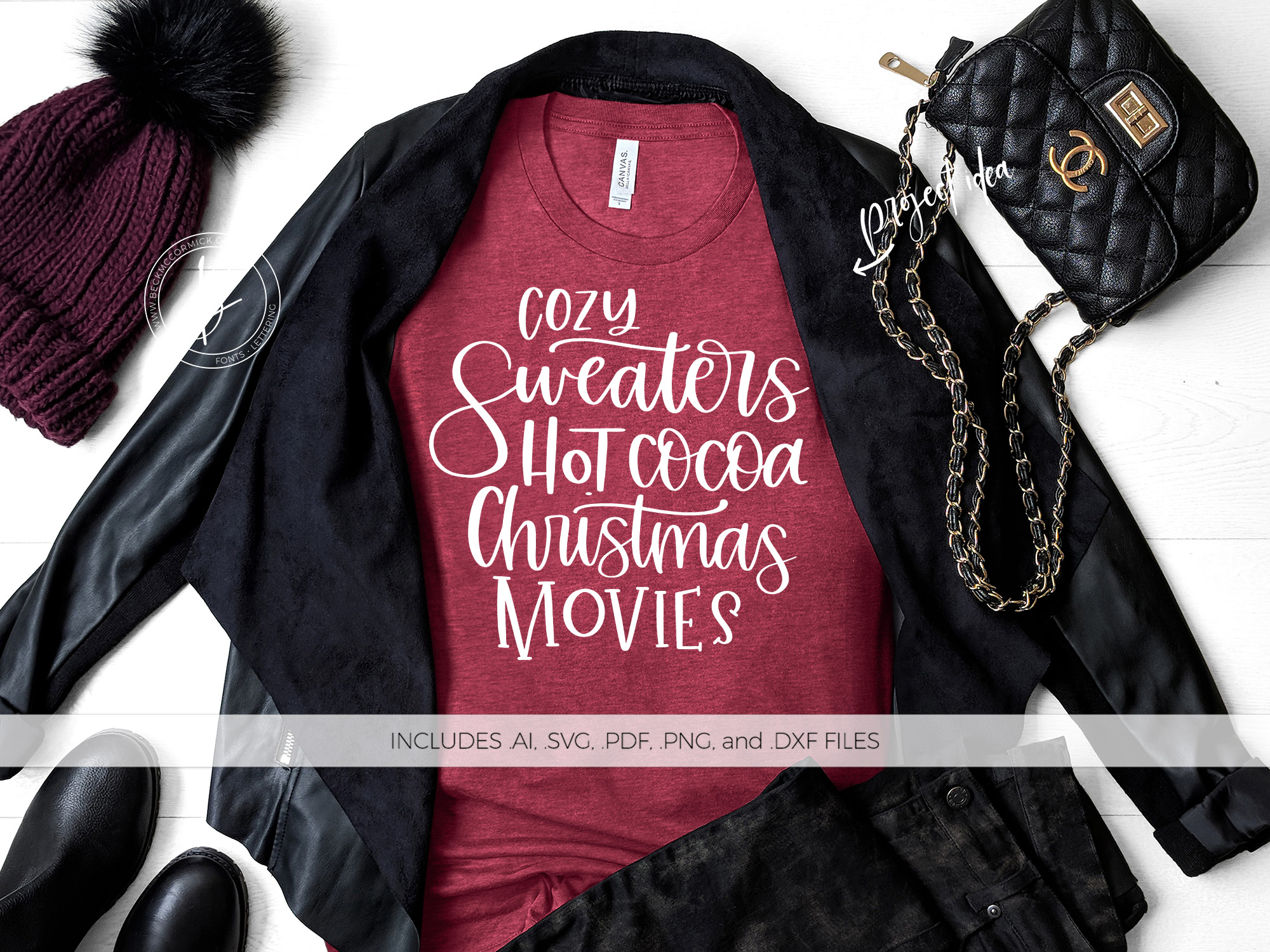 Download Free Cozy Sweaters Hot Cocoa Christmas Movies Graphic By for Cricut Explore, Silhouette and other cutting machines.