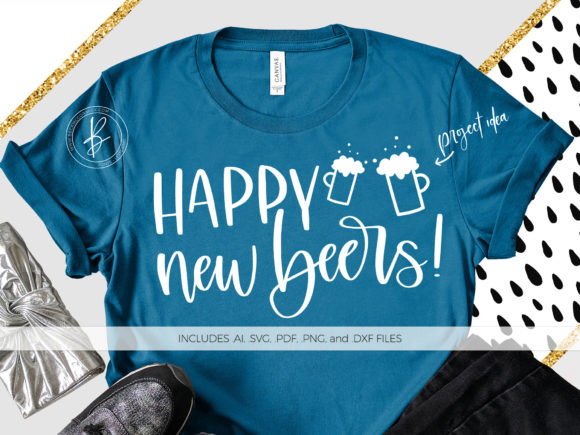 Print on Demand: Happy New Beers Graphic Crafts By BeckMcCormick - Image 1