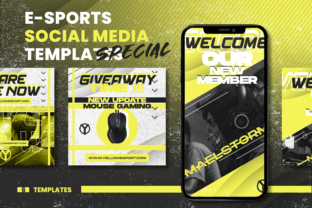 Download Free Social Media E Sport Template Graphic By Ovoz Graphics for Cricut Explore, Silhouette and other cutting machines.