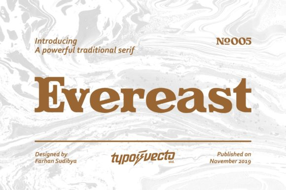 Evereast Serif Font By Typovecto