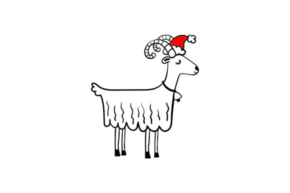 Christmas White Goat Christmas Craft Cut File By Creative Fabrica Crafts