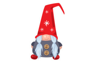 Scandanavian Gnome with Buttons Christmas Craft Cut File By Creative Fabrica Crafts