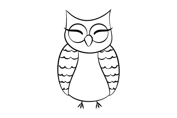 Download Free Owl Cute Doodle Svg Cut File By Creative Fabrica Crafts for Cricut Explore, Silhouette and other cutting machines.