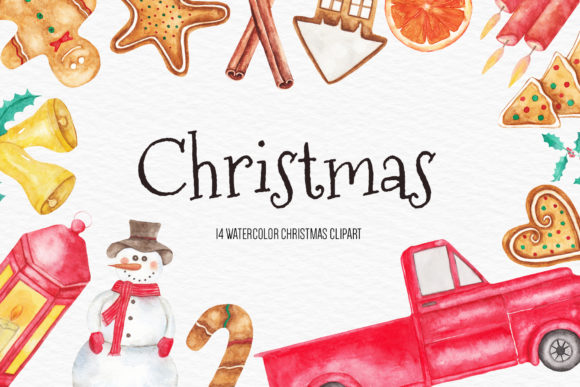 Watercolor Christmas Illustration Graphic Illustrations By BonaDesigns
