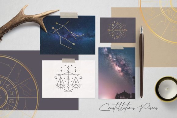 Zodiac Signs and Constellations Graphic Icons By Alisovna - Image 3