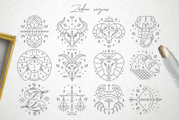 Zodiac Signs and Constellations Graphic Icons By Alisovna - Image 4