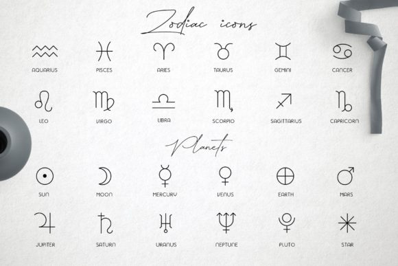 Zodiac Signs and Constellations Graphic Icons By Alisovna - Image 6