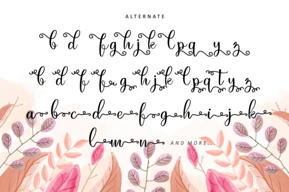 Print on Demand: Just Swirls Script & Handwritten Font By HansCo - Image 7