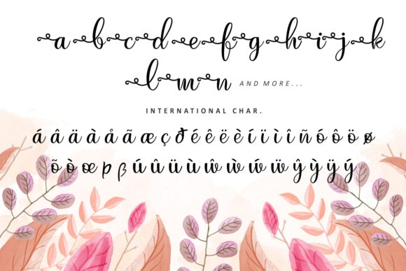 Print on Demand: Just Swirls Script & Handwritten Font By HansCo - Image 8