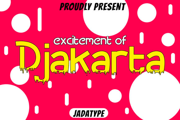 Print on Demand: Djakarta Display Font By jadatype
