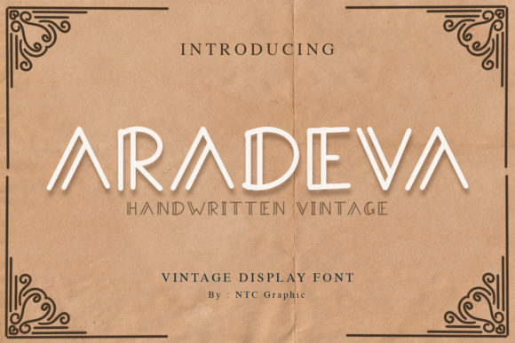 Print on Demand: Aradeva Display Font By dwikrisdiantoro9