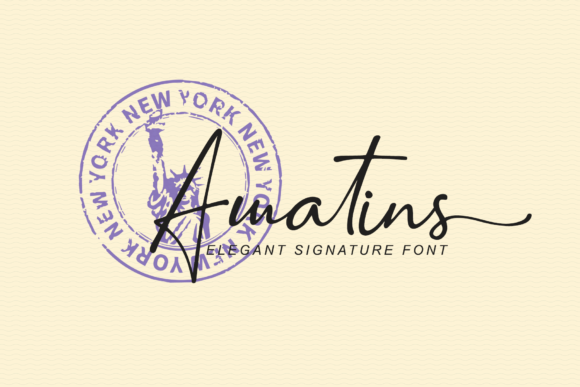 Print on Demand: Amatins Script & Handwritten Font By LetterBeary