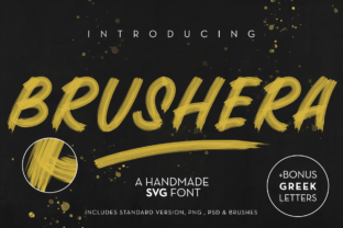Print on Demand: Brushera Color Fonts Font By georgebourle