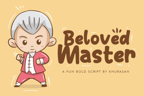 Beloved Master Display Font By Khurasan
