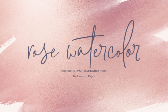 Print on Demand: Rose Gold Watercolor Backgrounds Graphic Textures By Creative Paper