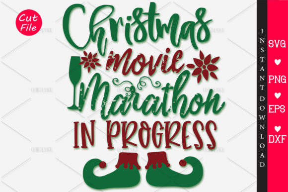 Download Free Christmas Movie Marathon In Progress Svg Graphic By Orindesign for Cricut Explore, Silhouette and other cutting machines.