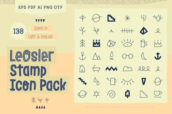 Print on Demand: LeOsler Stamp Icon Pack Graphic Icons By antipixel