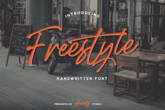 Print on Demand: Freestyle Script & Handwritten Font By lickermelody