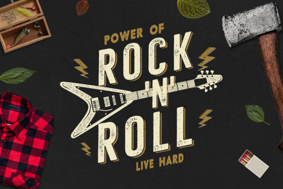 Download Free Music Rock N Roll Print For T Shirt Svg Graphic By Jeksongraphics Creative Fabrica for Cricut Explore, Silhouette and other cutting machines.