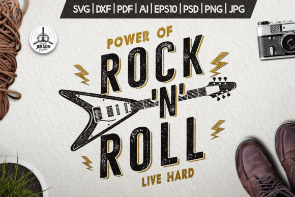 Download Free Music Rock N Roll Print For T Shirt Svg Graphic By for Cricut Explore, Silhouette and other cutting machines.