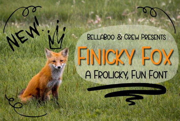 Print on Demand: Finicky Fox Sans Serif Font By BellaBoo  - Image 1