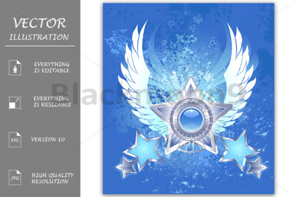Five Silver Stars Graphic Illustrations By Blackmoon9