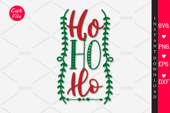 Download Free Ho Ho Ho Svg Graphic By Orindesign Creative Fabrica for Cricut Explore, Silhouette and other cutting machines.