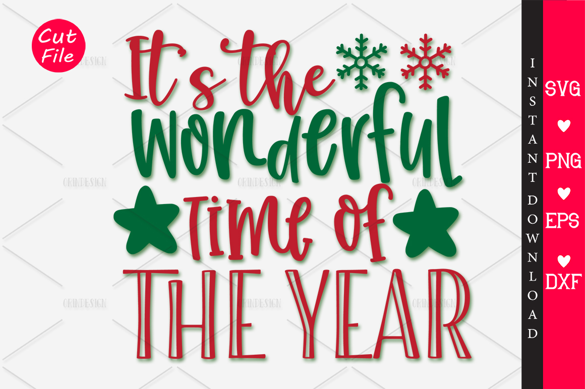 Download Free Its The Most Wonderful Time Of The Svg Graphic By Orindesign for Cricut Explore, Silhouette and other cutting machines.