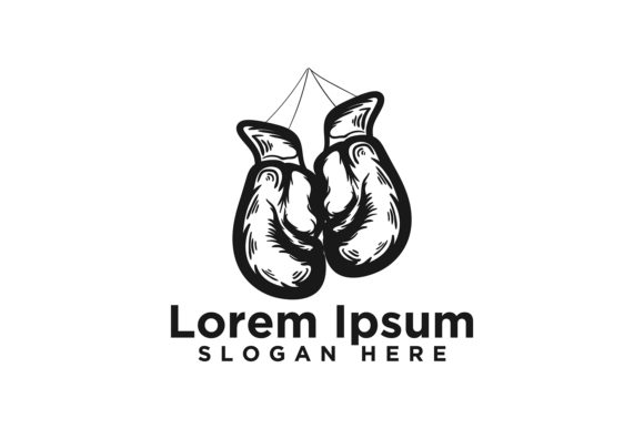 Download Free Hand Drawn Boxing Gloves Logo Designs Ve Graphic By for Cricut Explore, Silhouette and other cutting machines.