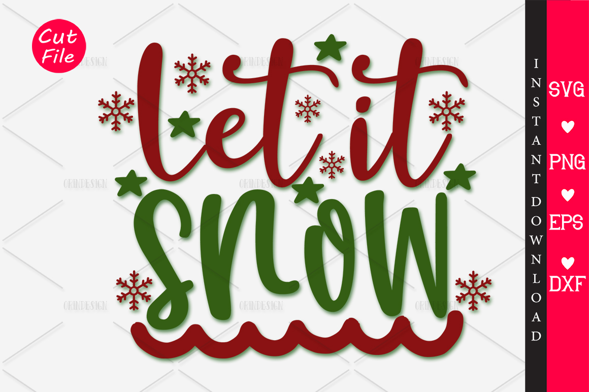 Download Free Let It Snow Svg Graphic By Orindesign Creative Fabrica for Cricut Explore, Silhouette and other cutting machines.