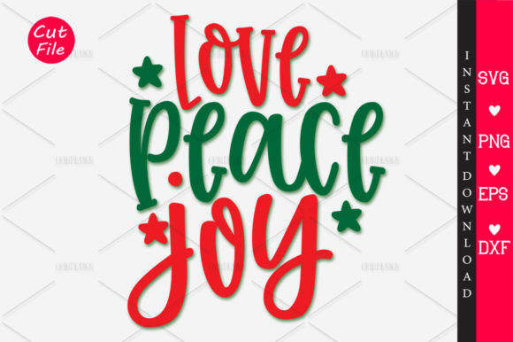 Download Free Love Peace Joy Svg Graphic By Orindesign Creative Fabrica for Cricut Explore, Silhouette and other cutting machines.
