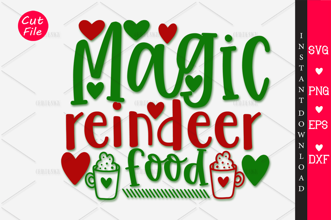 Magic Reindeer Food Svg Graphic By Orindesign Creative Fabrica