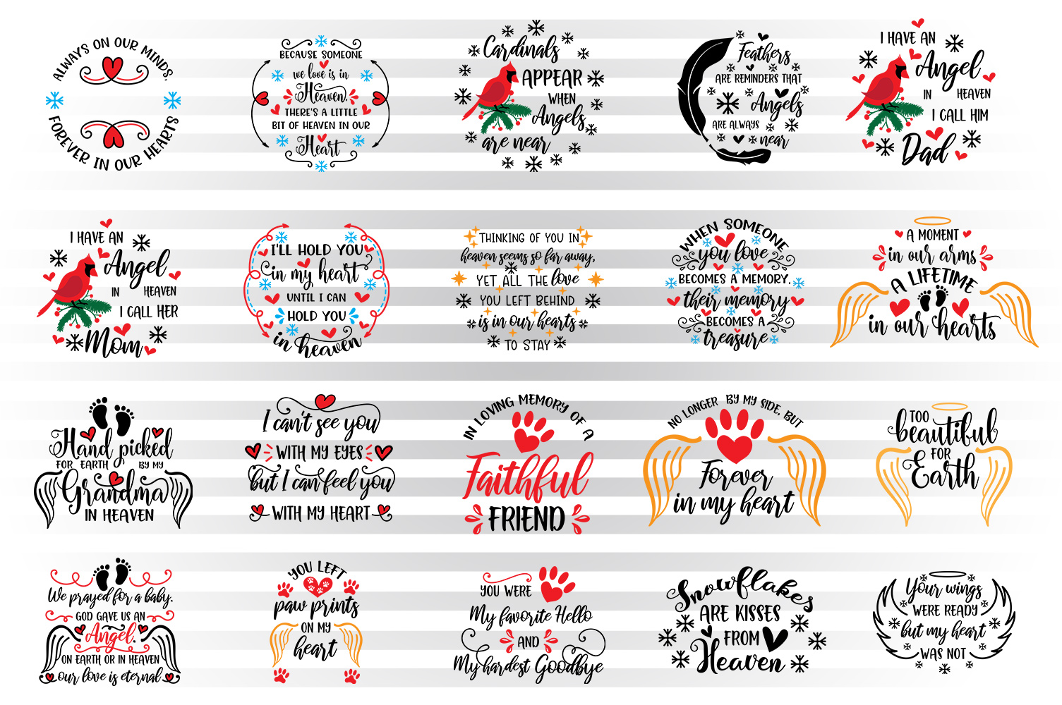 Download Free Christmas Ornaments Bundle Graphic By Illustrator Guru for Cricut Explore, Silhouette and other cutting machines.