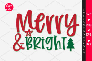 Download Free Merry Bright Graphic By Orindesign Creative Fabrica for Cricut Explore, Silhouette and other cutting machines.