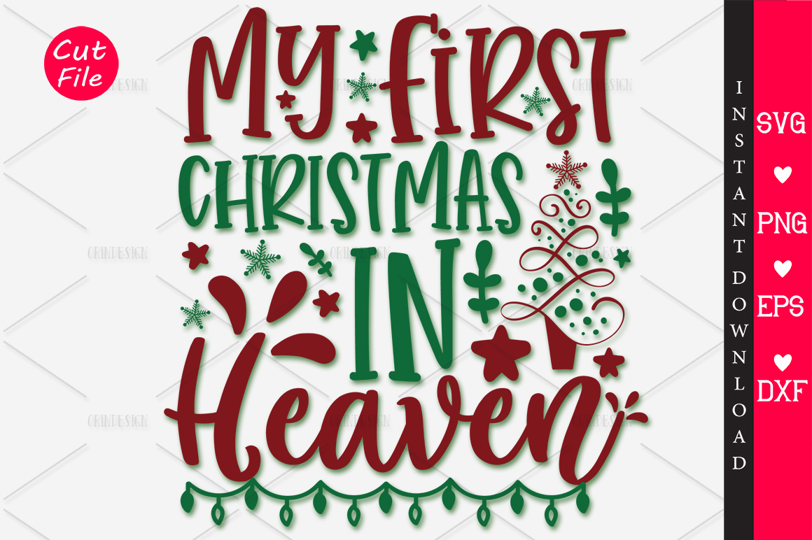 Download Free My First Christmas In Heaven Svg Graphic By Orindesign for Cricut Explore, Silhouette and other cutting machines.