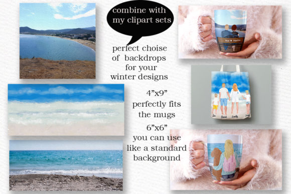 Beach Background Holiday Landscapes Graphic Illustrations By LeCoqDesign - Image 3